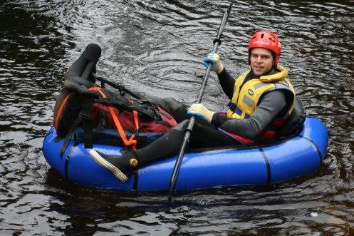 Matt posing in boat
