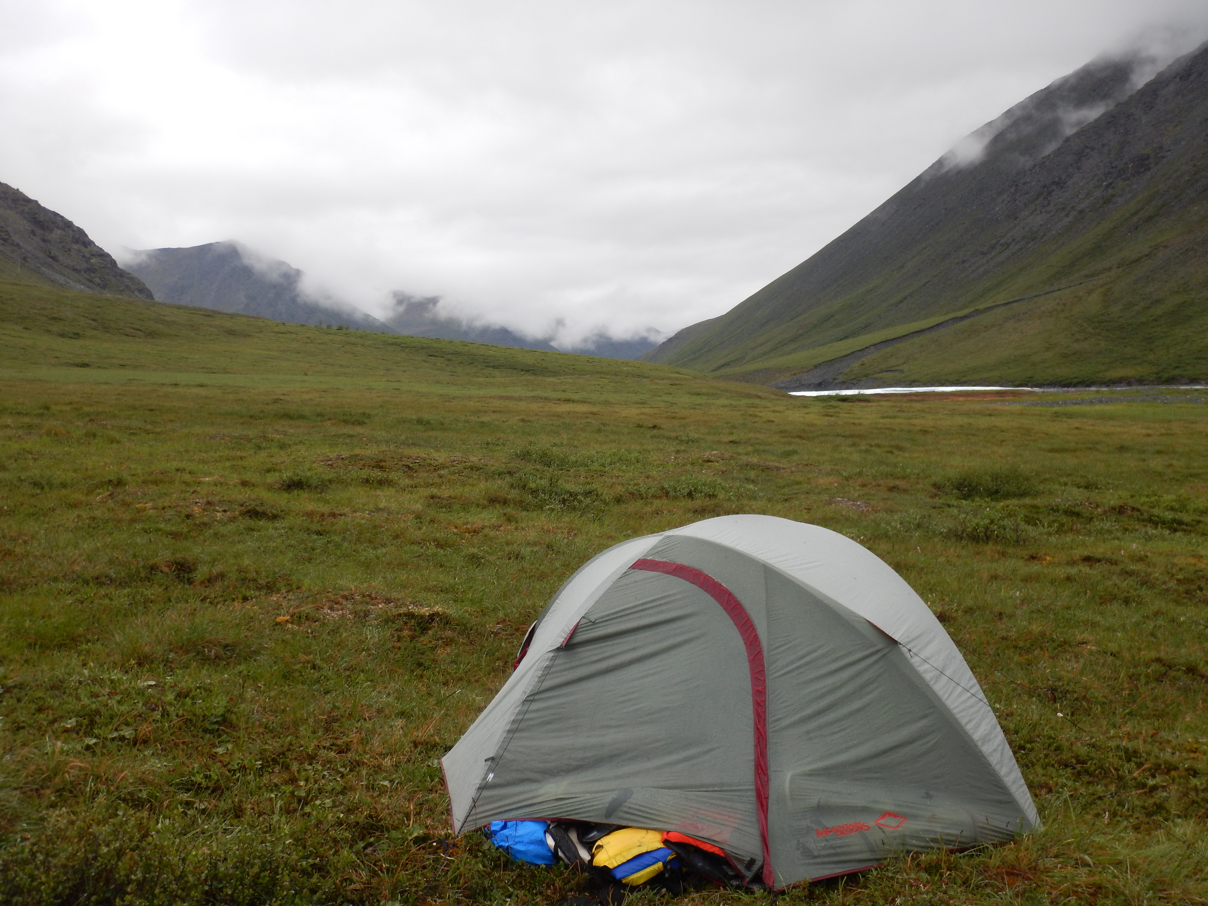 Day 3 we emerged from the tent only briefly as it rained incessantly. Our disciplined approach to cooking and eating dissolved here; we took a calculated ... & Tasmanian Packrafters in the Brooks Range Alaska; Alatna River ...